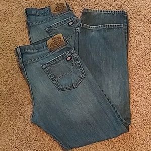 (2 pr) Dickies Denim Jeans Relaxed Straight Leg